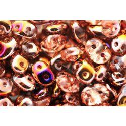 Superduo, gold apricot AB, (sliperit), 10g
