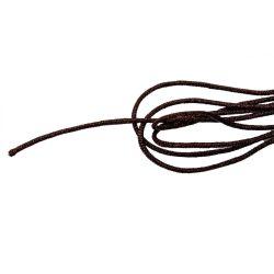 Selyemszál, kókuszbarna, méterben, átm.: 1,5mm