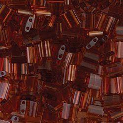Miyuki TILA gyöngy, átlátszó sötét topáz AB, 30 db
