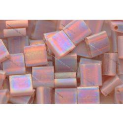 Miyuki TILA gyöngy, matt átlátszó sötét topáz AB, 30 db
