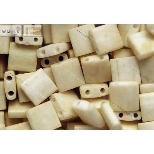 Miyuki TILA gyöngy, matt telt krém, 30 db