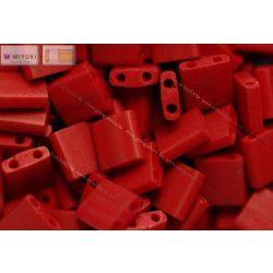 Miyuki TILA gyöngy, matt metál sötét vöröses gesztenyebarna, 30 db