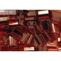 Miyuki TILA gyöngy, arany lüszteres gránát piros, 30 db