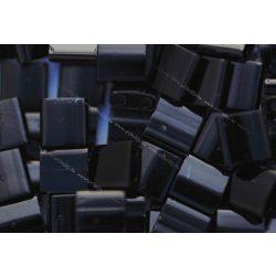 Miyuki TILA gyöngy, telt fekete, 30 db