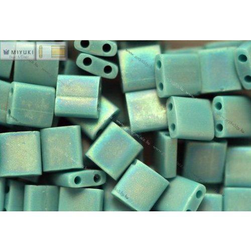 Miyuki TILA gyöngy, telt matt türkiz zöld, 30 db