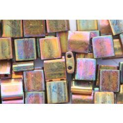 Miyuki TILA gyöngy, irizáló metál arany, 30 db