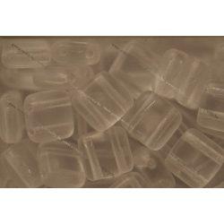 Kétlyukú négyzet, matt kristály , 25 db