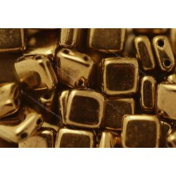 Kétlyukú négyzet, fényes bronz, 25 db