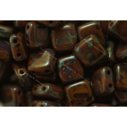 Kétlyukú négyzet, picasso – umbra (barna), 25 db