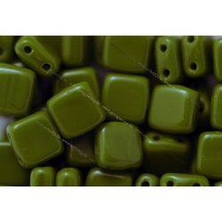 Kétlyukú négyzet, telt  oliva, 25db