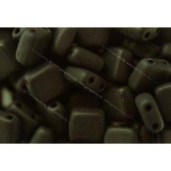 Kétlyukú négyzet, matt fekete, 25 db