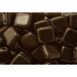 Kétlyukú négyzet, matt fekete II, 25 db