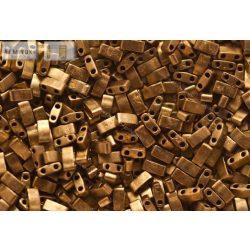 Miyuki Fél Tila, matt metál sötét bronz, 60 db