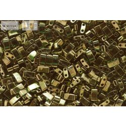 Miyuki Fél Tila, átlátszó arany lüszteres oliva, 60 db