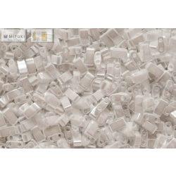 Miyuki Fél Tila, gyöngyház fehér, 60 db