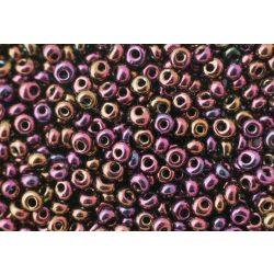 Magatama gyöngy, irrizáló lila, 10g
