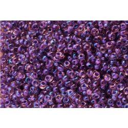 Magatama gyöngy, festett közepű, sziv.lila, 10g