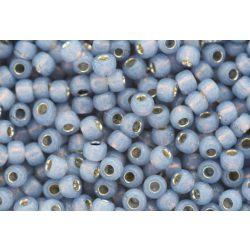 Japán kásagyöngy TOHO 6/0, ezüstközepű opál montana kék, 10g