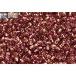 Japán kásagyöngy TOHO 6/0, ezüstközepű világos szőlő lila, 10g