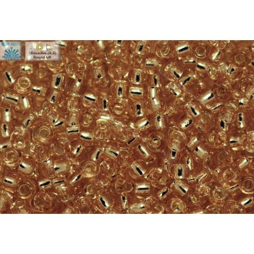 Japán kásagyöngy TOHO 6/0, ezüstközepű rosaline, 10g