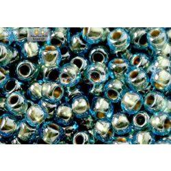 Japán kásagyöngy TOHO 6/0, aranyközepű aqua, 10g