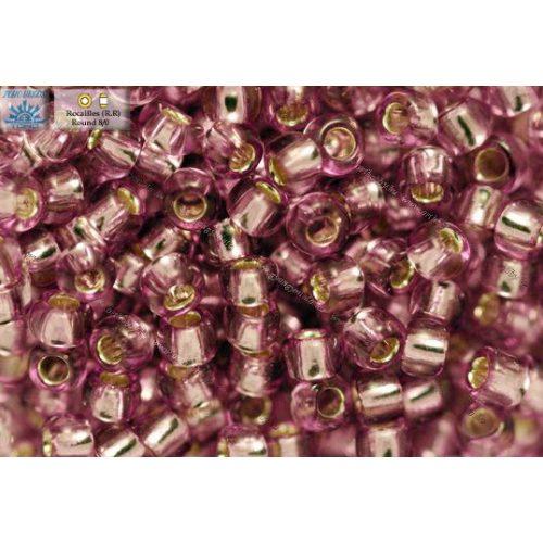 Japán kásagyöngy TOHO 8/0, ezüstközepű világos szőlő lila, 10g