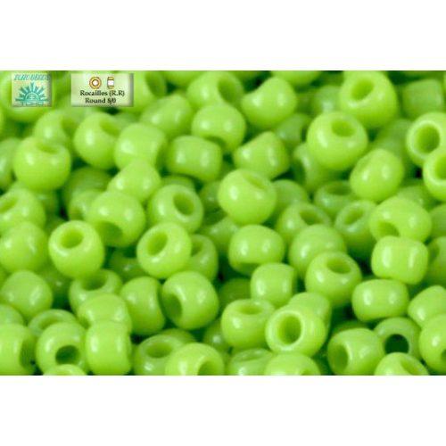 Japán kásagyöngy TOHO  8/0, zöld alma, 10g