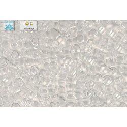 Japán kásagyöngy TOHO 11/0, átlátszó kristály, 10g