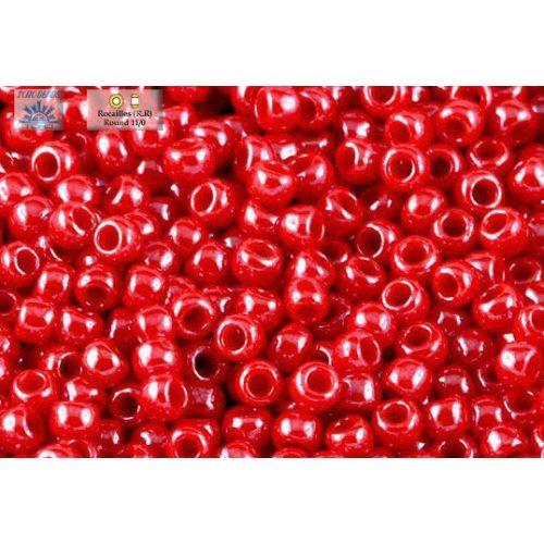 Japán kásagyöngy TOHO 11/0, telt-lüszteres cseresznye, 10g