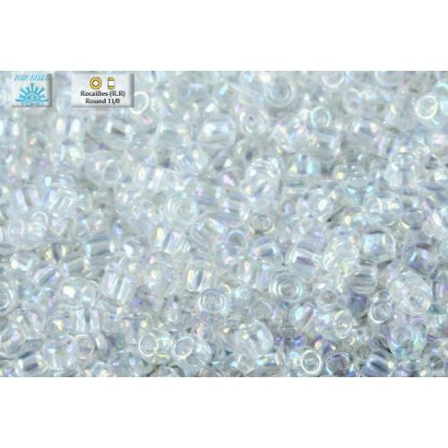 Japán kásagyöngy TOHO 11/0, szivárványos kristály, 10g