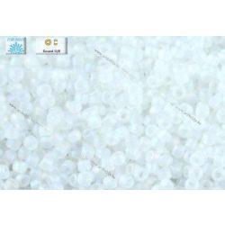Japán kásagyöngy TOHO 11/0, átlátszó szivárványos matt kristály, 10g