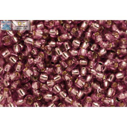 Japán kásagyöngy TOHO 11/0, ezüstközepű világos szőlő lila, 10g