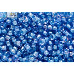 Japán kásagyöngy TOHO 11/0, telt kék közepű világos zafírkék