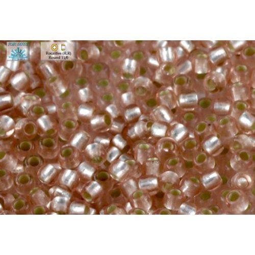 Japán kásagyöngy TOHO 11/0, ezüstközepű rosaline, 10g