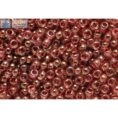 Japán kásagyöngy TOHO 11/0, festett fuksziaközepű világos ametiszt, 10g