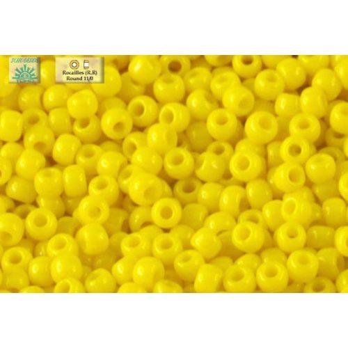 Japán kásagyöngy TOHO 11/0, telt kanári sárga, 10g