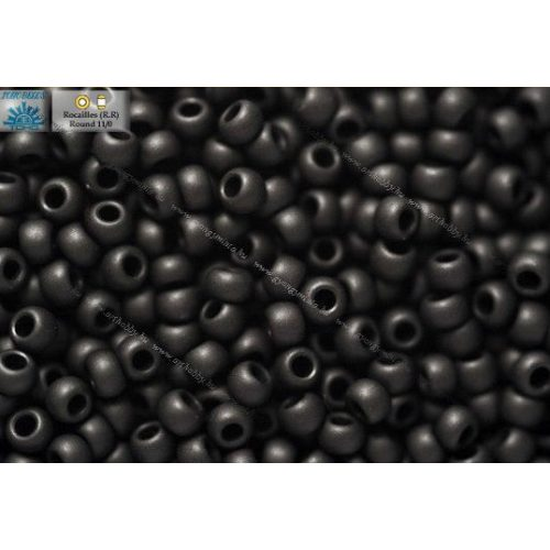 Japán kásagyöngy TOHO 11/0, telt fagyos fekete, 10g