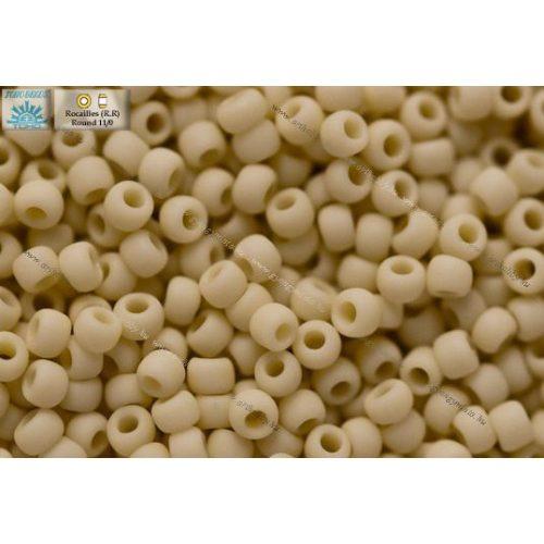 Japán kásagyöngy TOHO 11/0, telt fagyos világos bézs, 10g