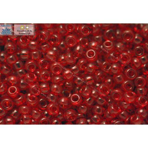 Japán kásagyöngy TOHO 11/0, átlátszó rubint, 10g