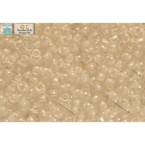 Japán kásagyöngy TOHO 11/0, szivárványos festett fehérközepű, 10g