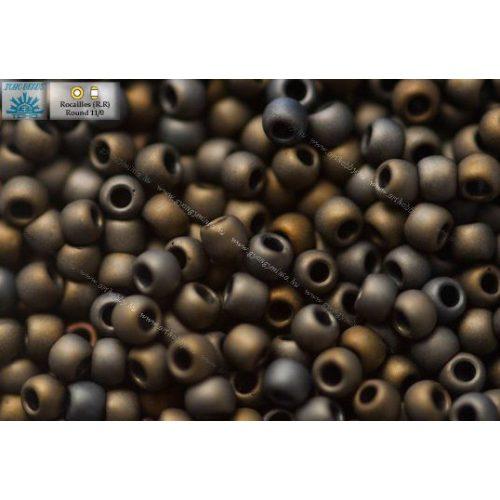 Japán kásagyöngy TOHO 11/0, matt metál irrizáló barna, 10g