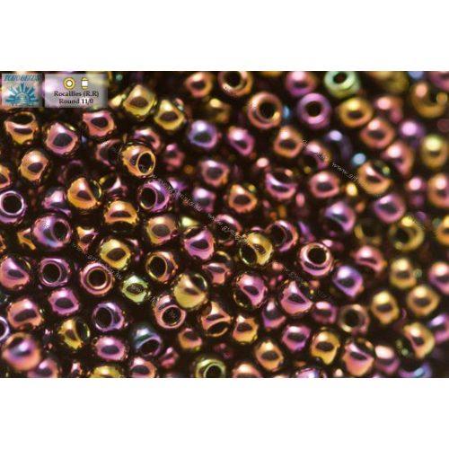Japán kásagyöngy TOHO 11/0, metál irrizáló lila, 10g