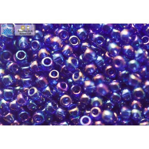 Japán kásagyöngy TOHO 11/0, átlátszó kobaltkék AB, 10g