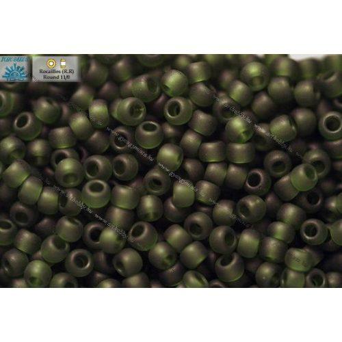 Japán kásagyöngy TOHO 11/0, matt sötét oliva, 10g