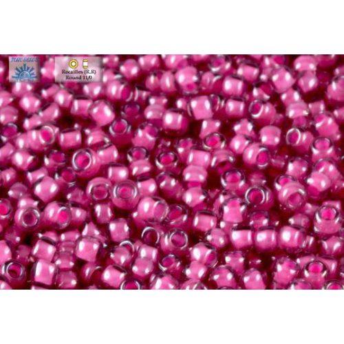 Japán kásagyöngy TOHO 11/0, pink közepű világos ametiszt, 10g