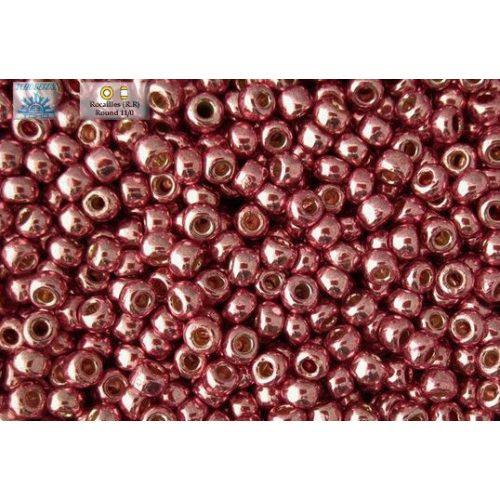 Japán kásagyöngy TOHO 11/0, tartós bevonat, galvanizált rózsa, 10g