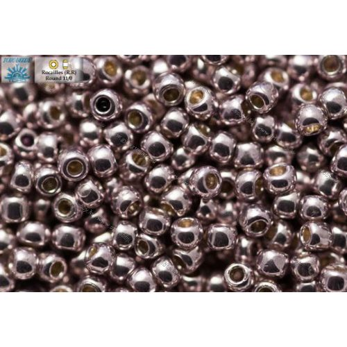 Japán kásagyöngy TOHO 11/0, tartós bevonat, galvanizált lila, 10g