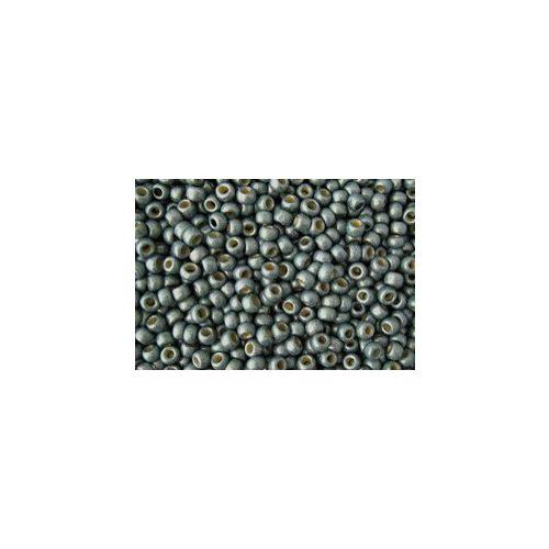 Japán kásagyöngy TOHO 11/0, tartós bevonat, galvanizált matt kék pala, 10g