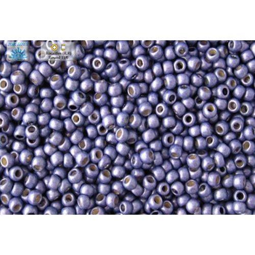 Japán kásagyöngy TOHO 11/0, tartós bevonat, galvanizált matt kék, 10g