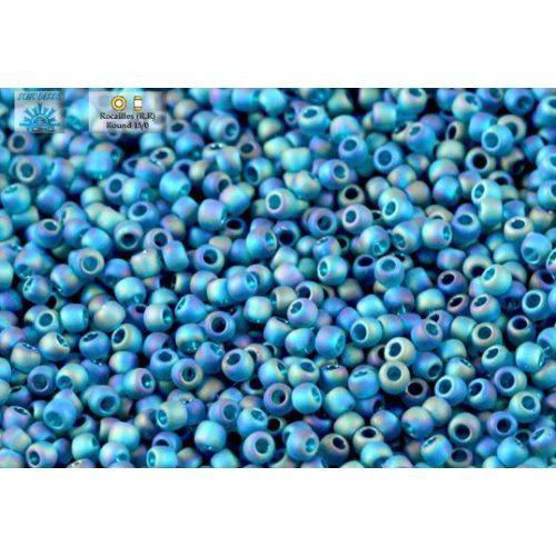 Japán kásagyöngy TOHO 15/0, átlátszó szivárványos fagyos teal, 5g